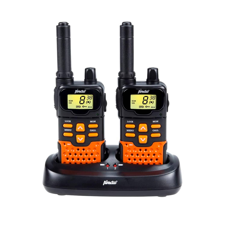 Alecto Portofoon Twin Set FR70 zwart en oranje