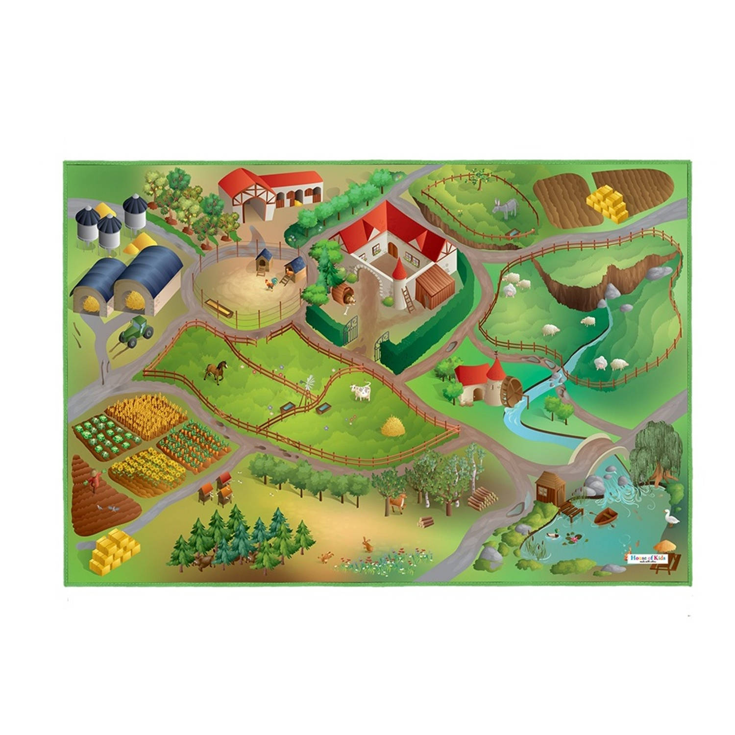House of Kids Speelkleed Farm 100 x 150 cm