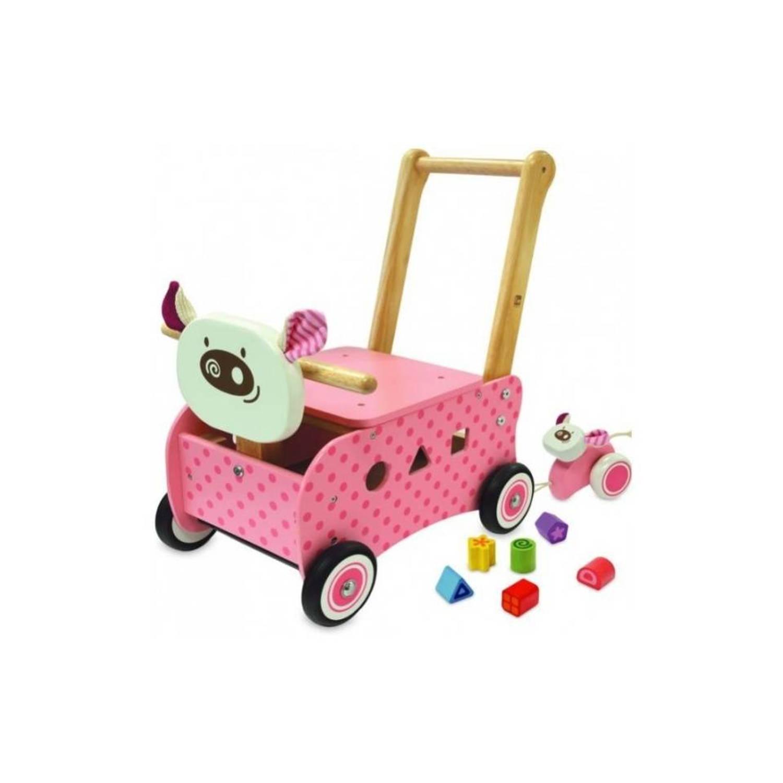 I'm Toy Loopwagen Varken Roze