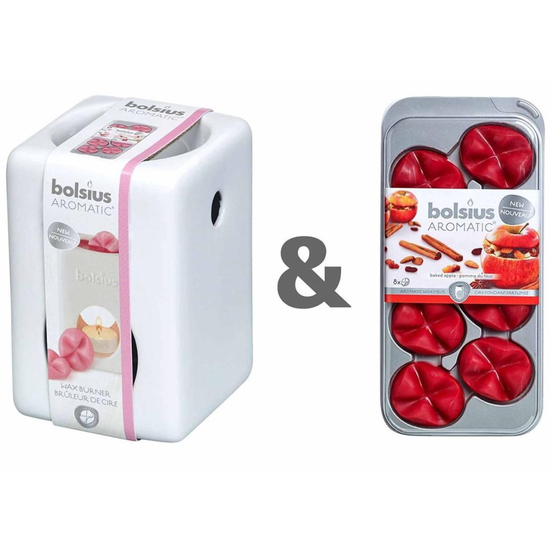 Bolsius Wax brander set met aromatische wax melts Baked Apple 07790501826
