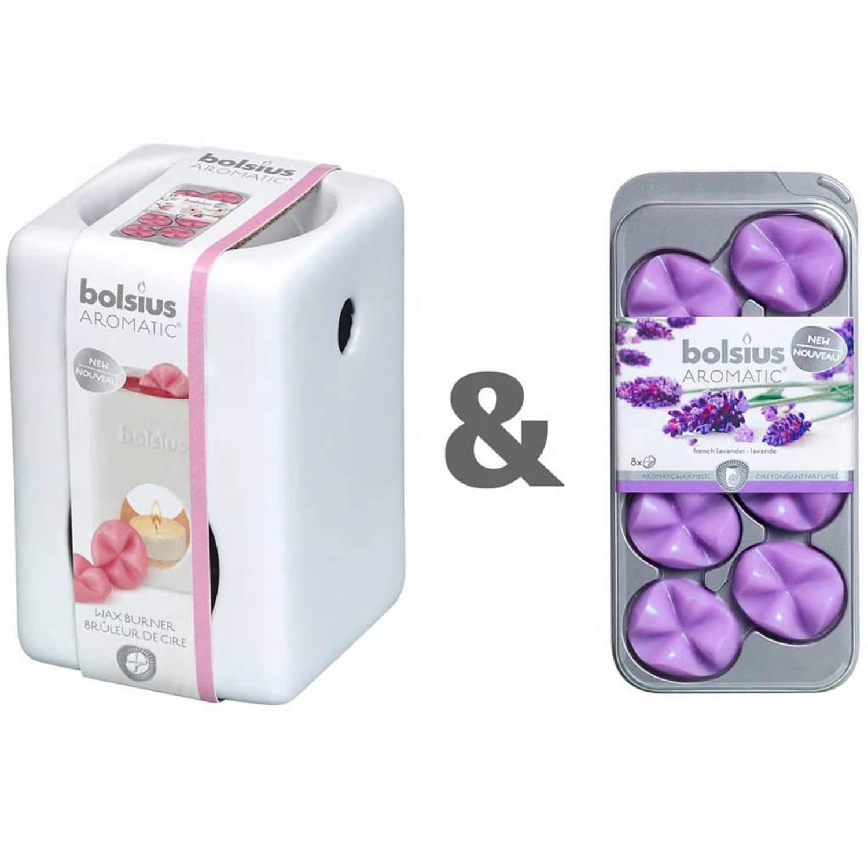 Bolsius Wax brander met aromatische wax Lavender 107790501877