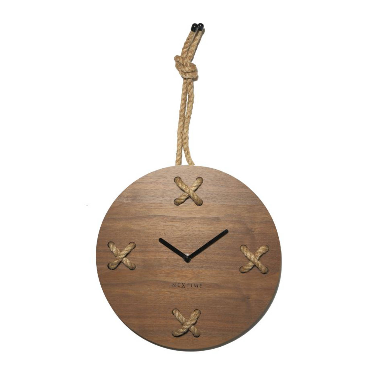 NeXtime Stitch wandklok - bruin
