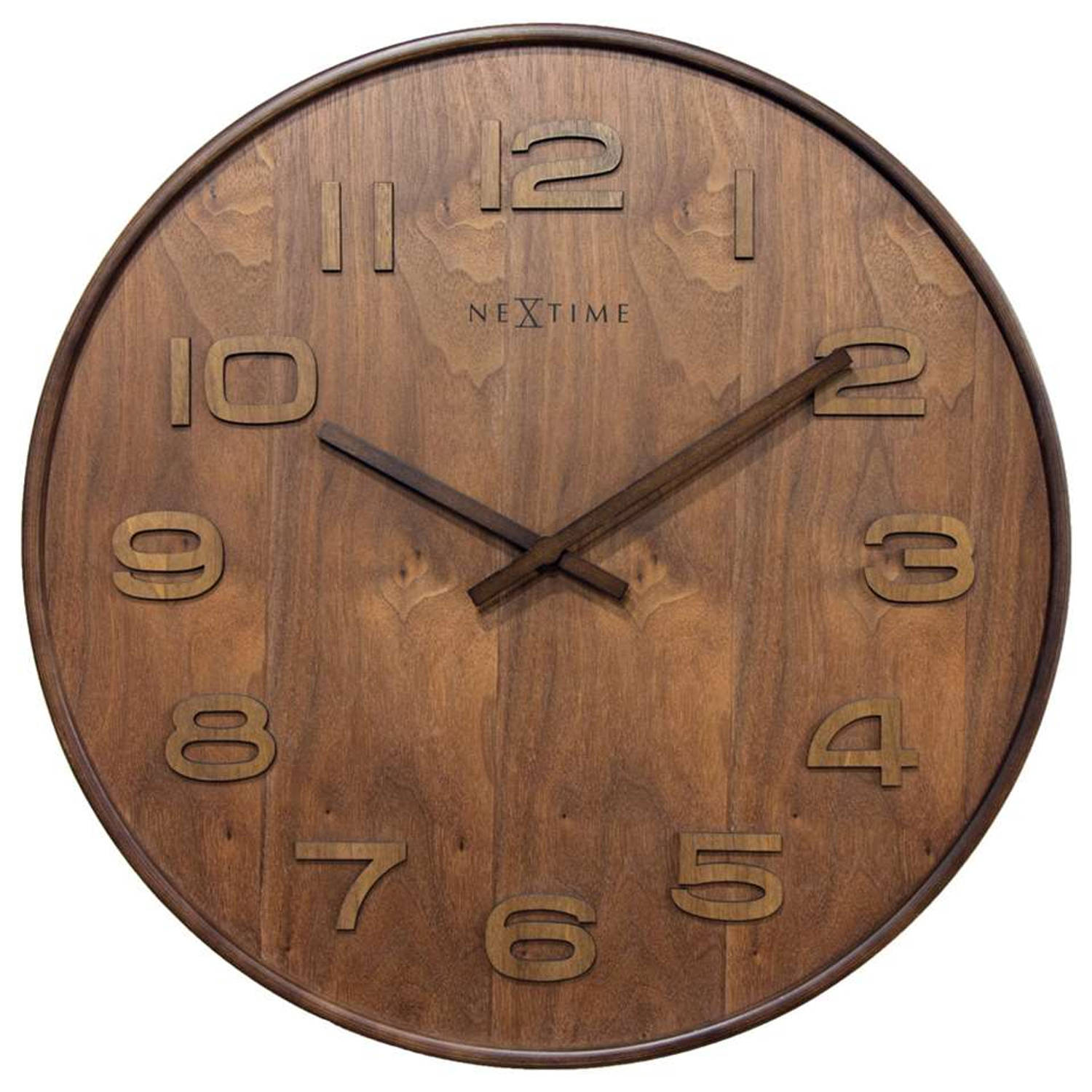 NeXtimewandklokWood Wood Big -bruin