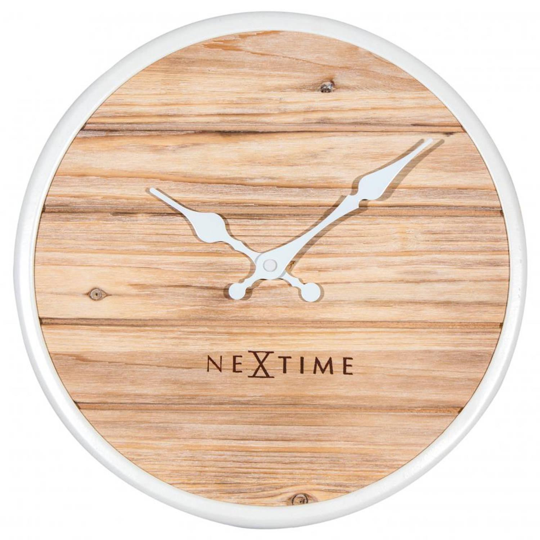 NeXtime Plank wandklok - wit