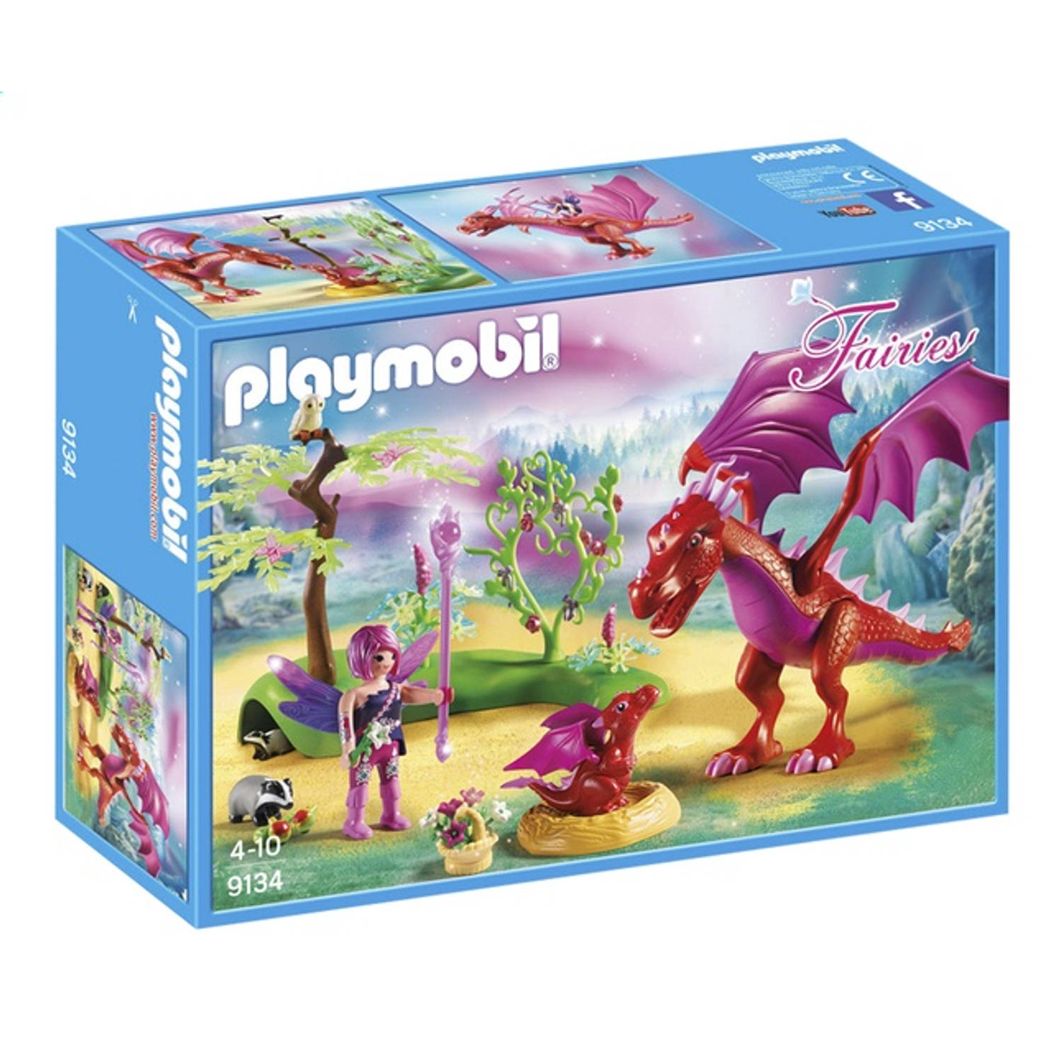 PLAYMOBIL Fairies drakenhoeder met rode draken 9134