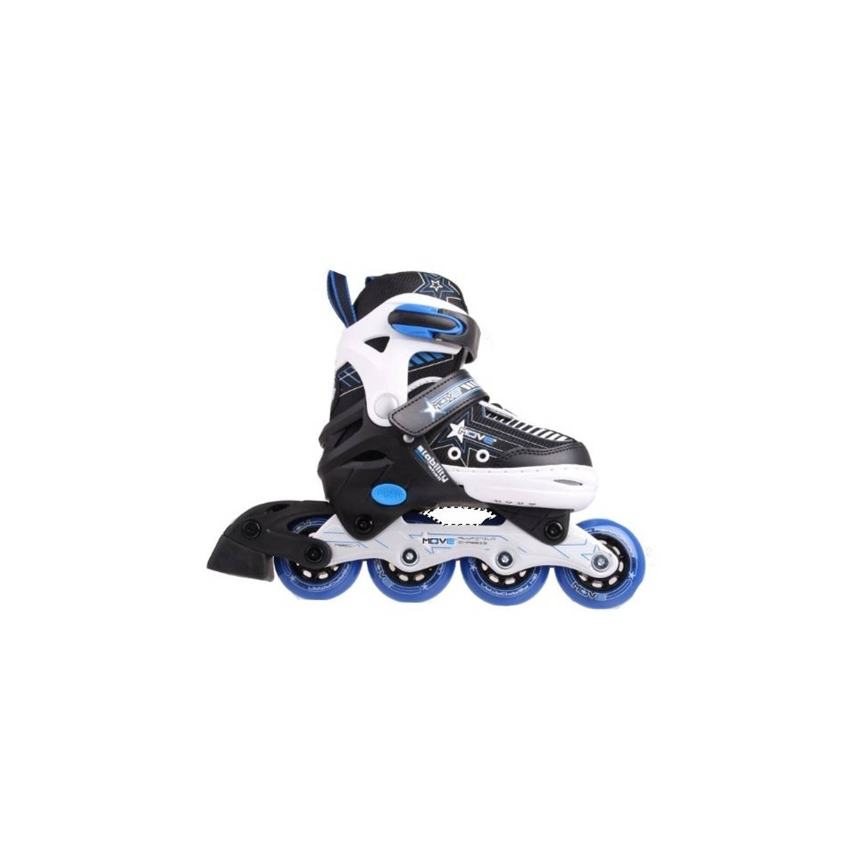 046c2b78f4b Move Inline Skates Star jongens Verstelbaar zwart maat 38/41   Blokker