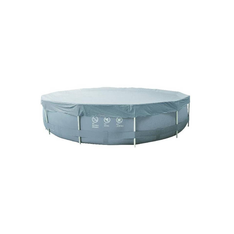 Jilong afdekzeil cover sirocco rond grijs 300 cm blokker for Afdekzeil zwembad blokker