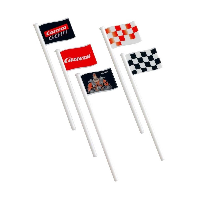 Carrera Go Vlaggen kunststof wit