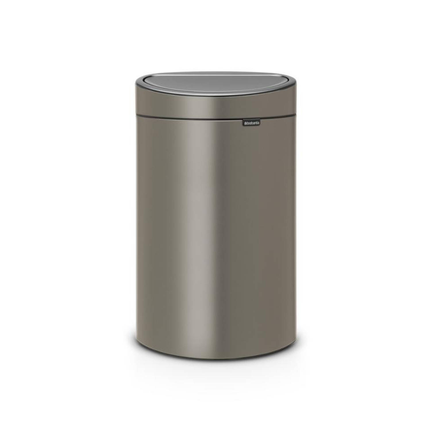 brabantia touch bin 40 l platinum blokker. Black Bedroom Furniture Sets. Home Design Ideas