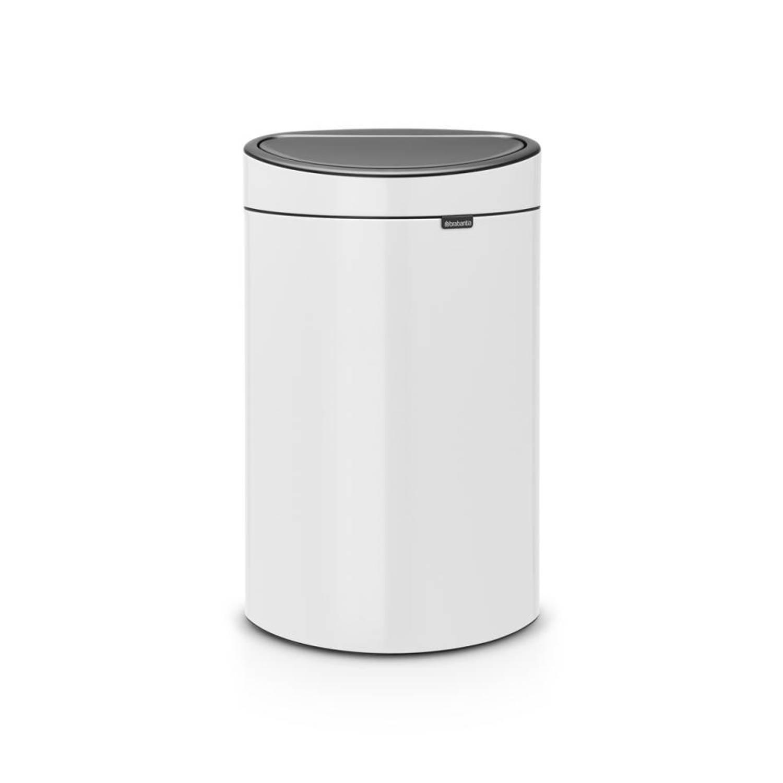 Brabantia Touch Bin Afvalemmer 40 Liter Met Kunststof Binnenemmer - White