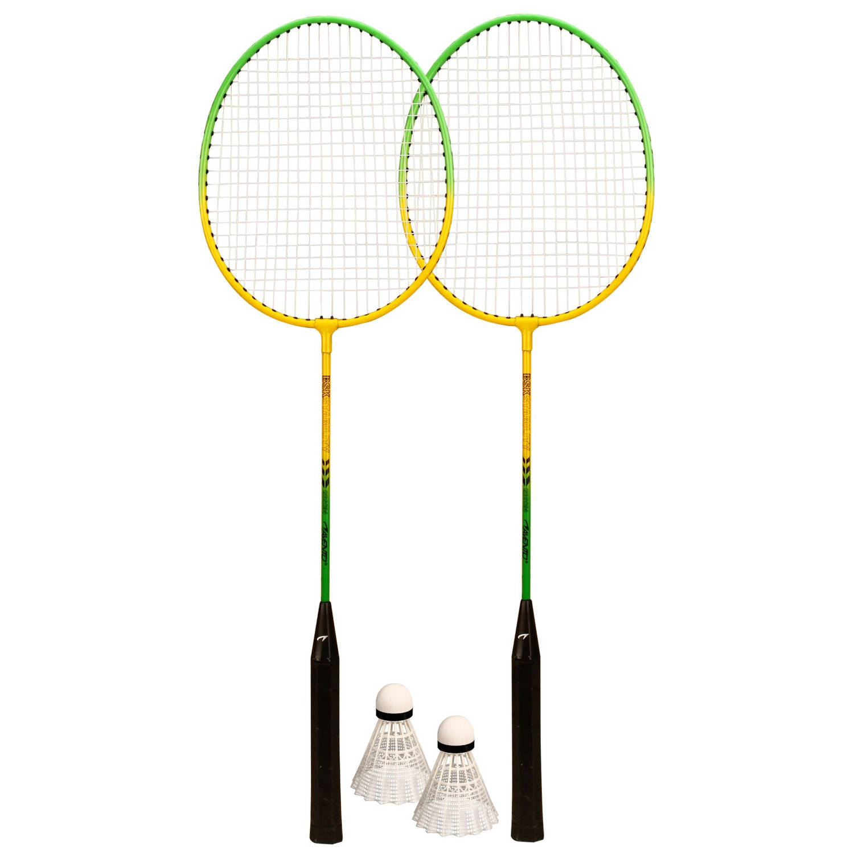 Afbeelding van Avento Badminton Set Groen/Geel