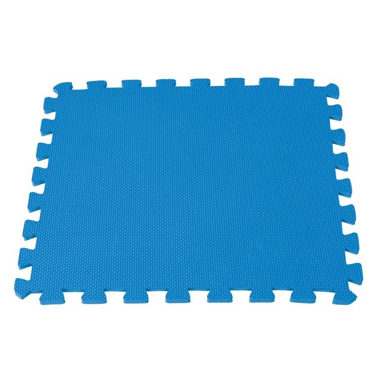 Intex Vloertegels 8 stuks 50 x 50 cm blauw