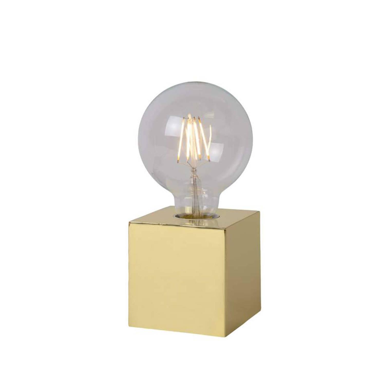 Korting Lucide Tafellamp Cubico Goudkleur