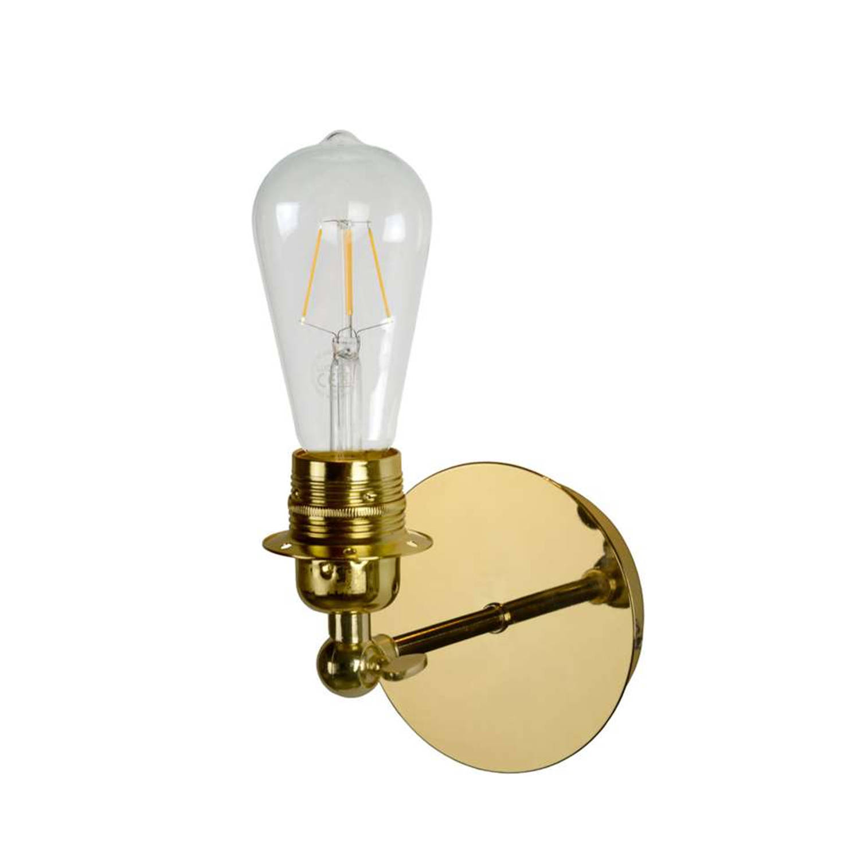 Lucide wandlamp Retro - messing
