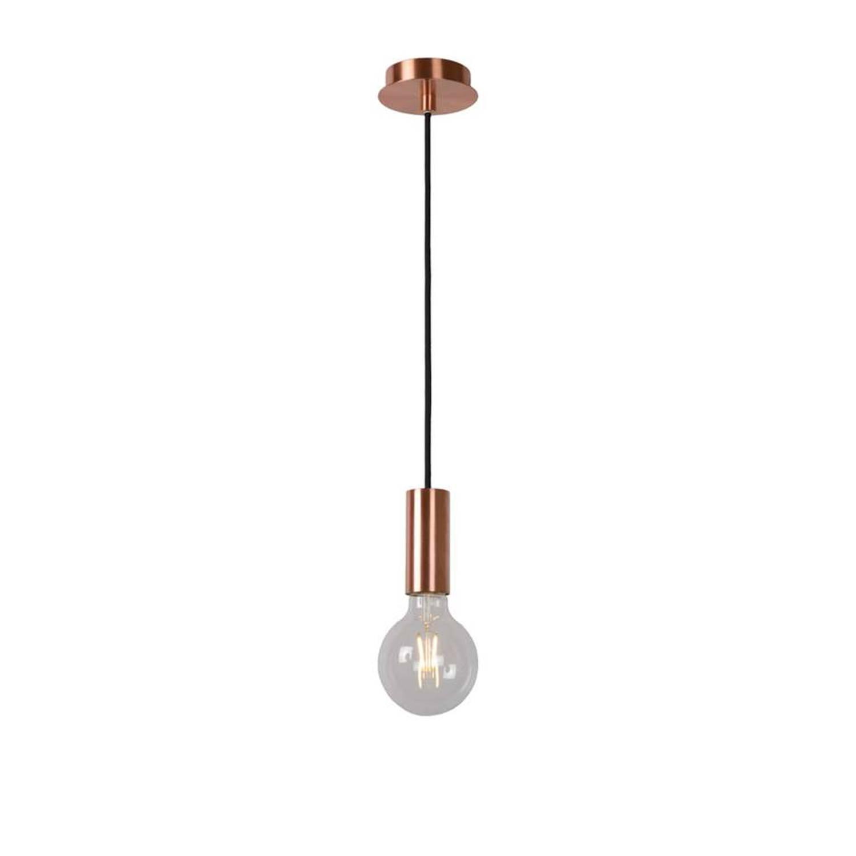 Lucide hanglamp Droopy - rood koper