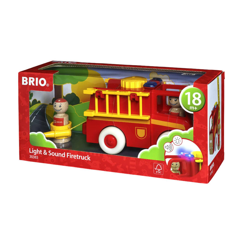 BRIO brandweerwagen met licht en geluid 30383