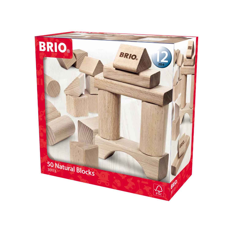 BRIO blokkenset naturel 30113 - 50 stuks