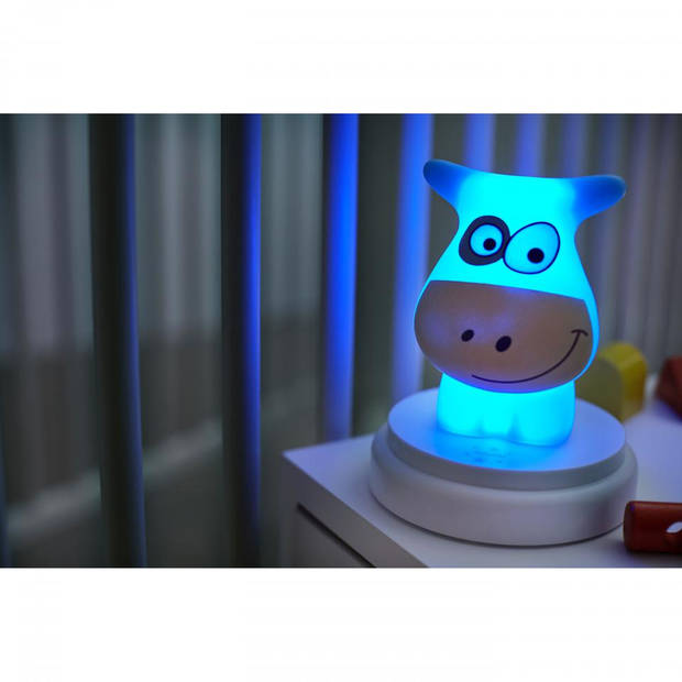 Alecto Naughty Cow nachtlampje - blauw