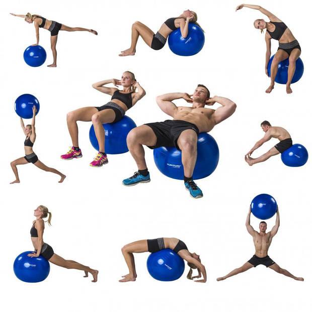 Tunturi fitnessbal 55 cm - blauw