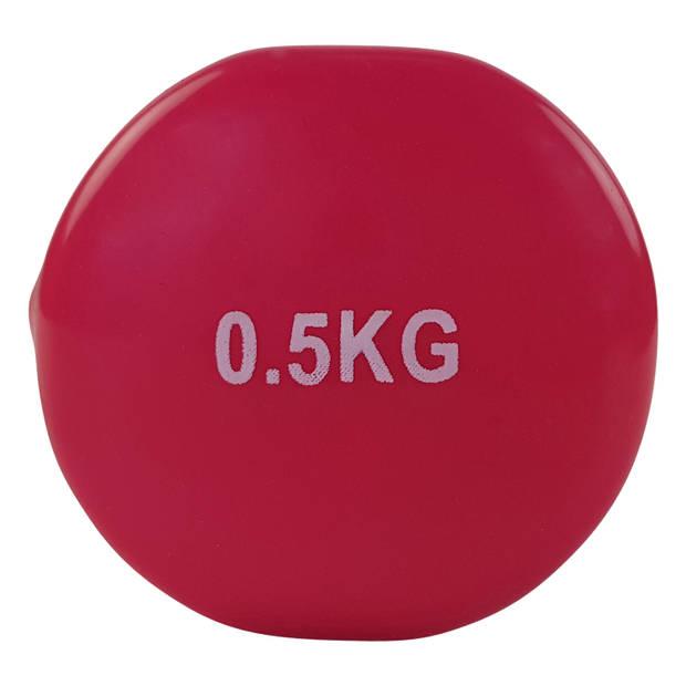 Tunturi vinyl dumbbells set 0.5 kg - roze
