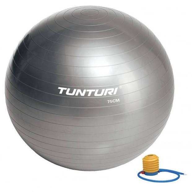 Tunturi fitnessbal 75 cm - zilver