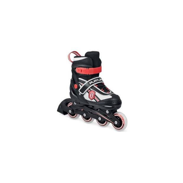 Playlife Verstelbare Inline Skates Jumper jongens zwart maat 27/30