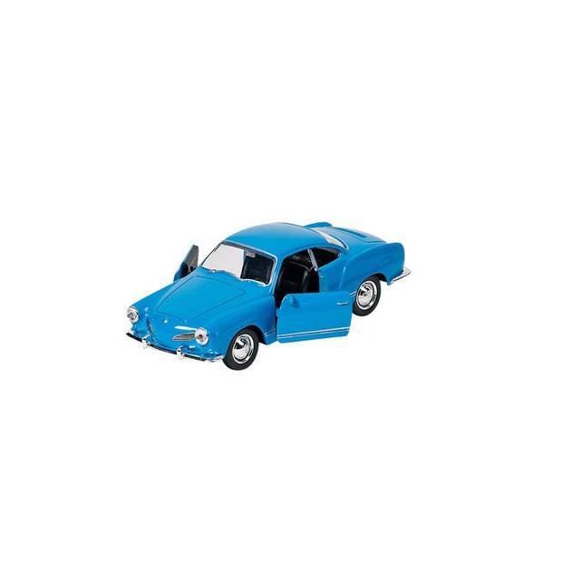 Goki metalen Volkswagen Karmann Ghia Coupe 1957 blauw