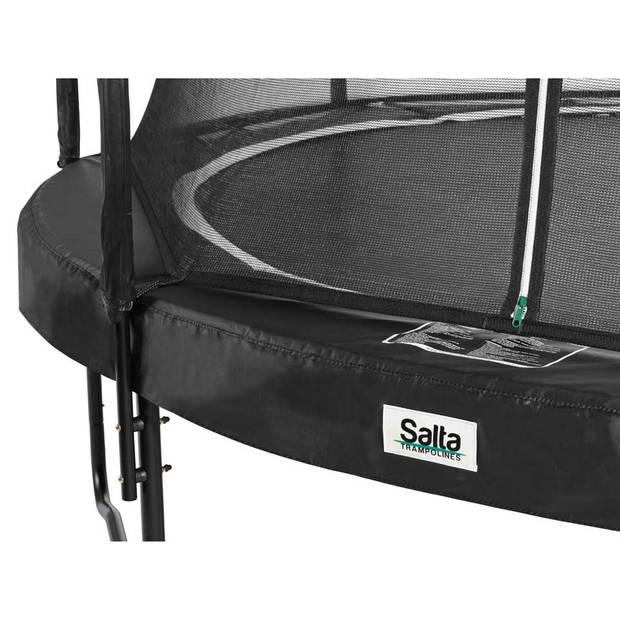 Salta Premium Black Edition trampoline rond met veiligheidsnet - 251 cm - zwart