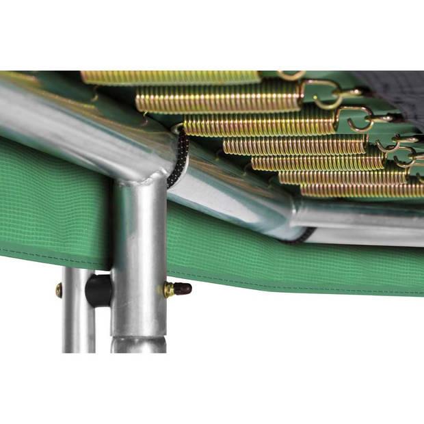 Salta Combo trampoline met veiligheidsnet rechthoekig - 153 x 213 cm - groen