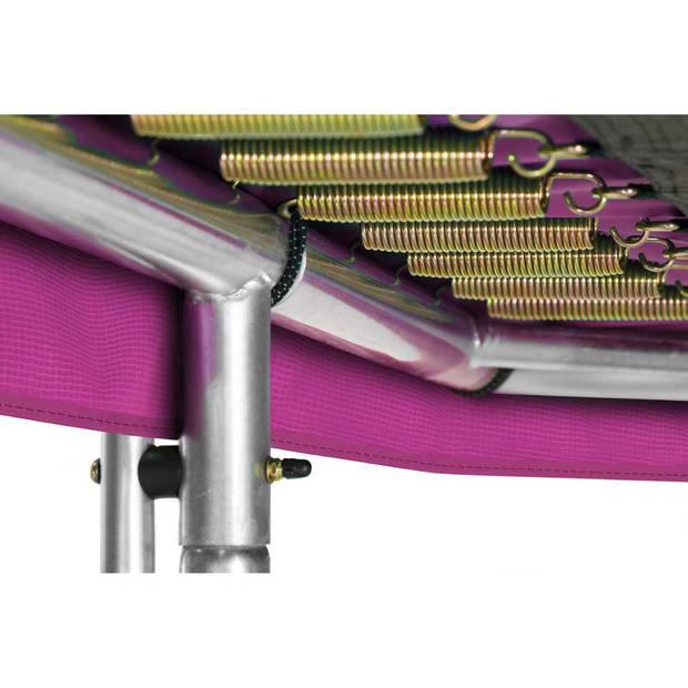 Salta Combo trampoline met veiligheidsnet rechthoekig - 153 x 213 cm - roze