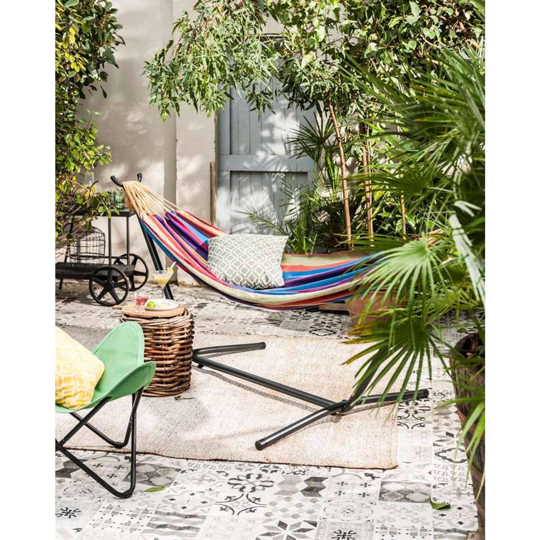 Vivere Tweepersoons Hangmat Met Standaard - Tropical