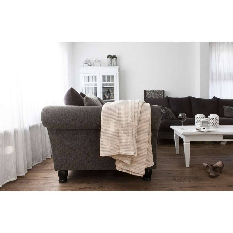 HnL Living plaid Wafel - zand - 180x260