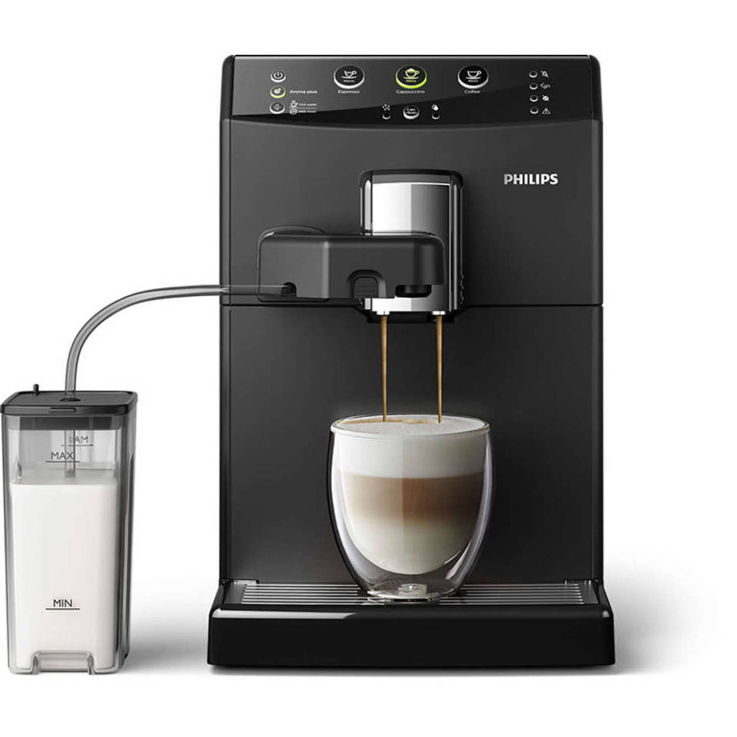 Philips volautomaat espressomachine Easy Capuccino 3000 series HD8829/01 - zwart