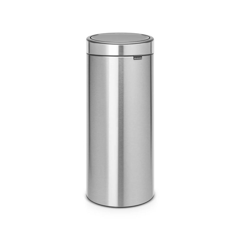 Brabantia Touch Bin Afvalemmer 30 Liter Met Kunststof Binnenemmer - Matt Steel Fingerprint Proof