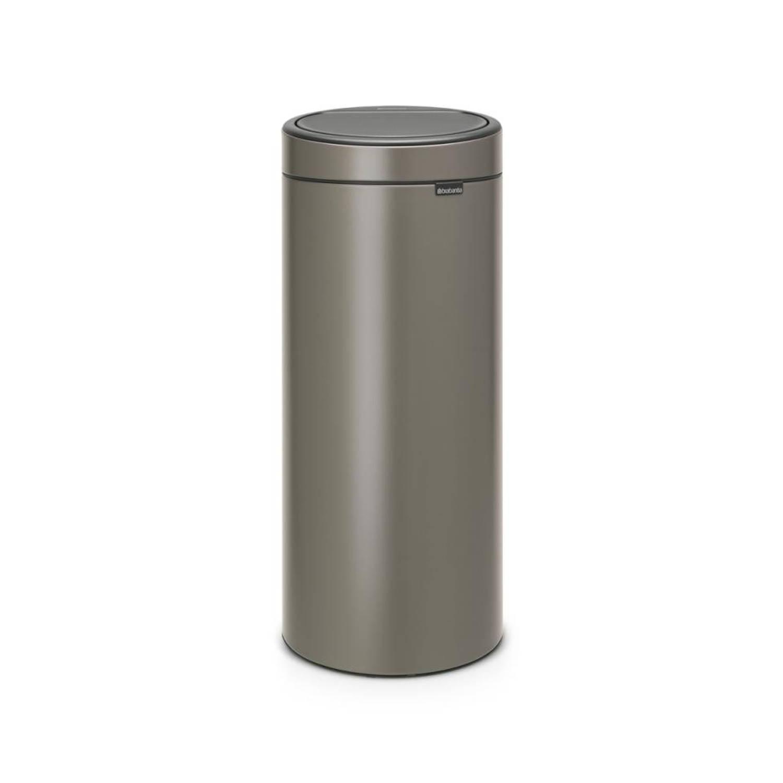 Brabantia Touch Bin 30 Liter.Brabantia Touch Bin 30 L Platinum Blokker