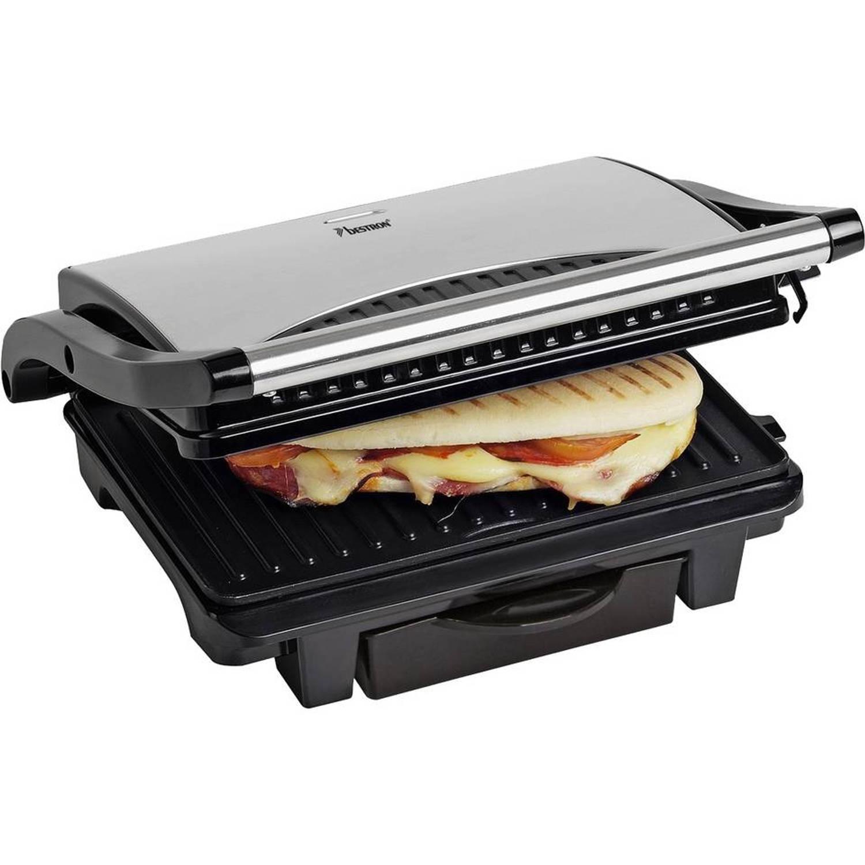 Bestron Panini grill ASW113S - RVS