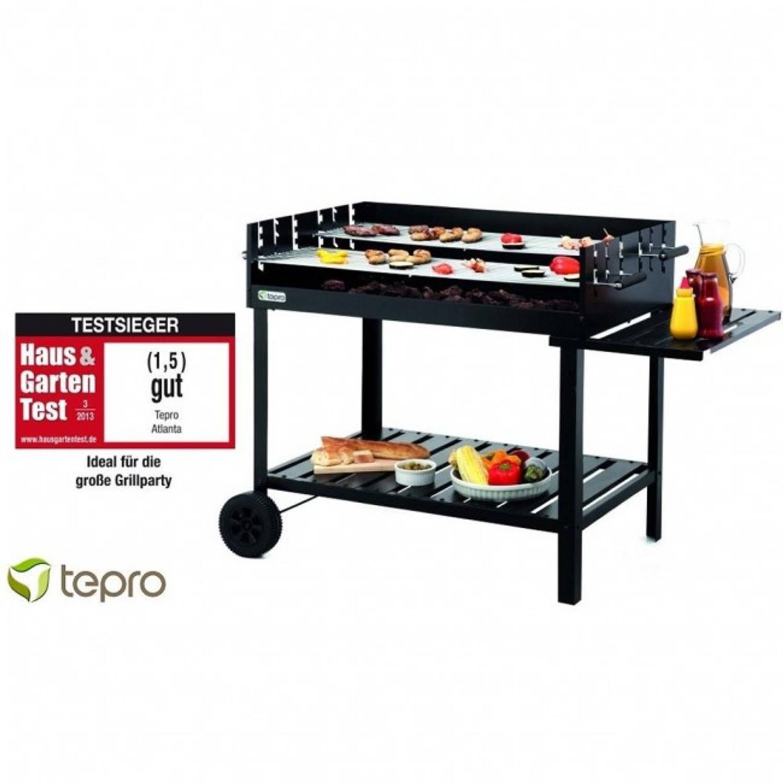 Tepro Atlanta Houtskool Barbecue Grillwagen Extra Zwaar