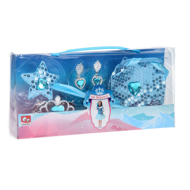 Slammer ijsprinses giftset 4-delig meisjes blauw