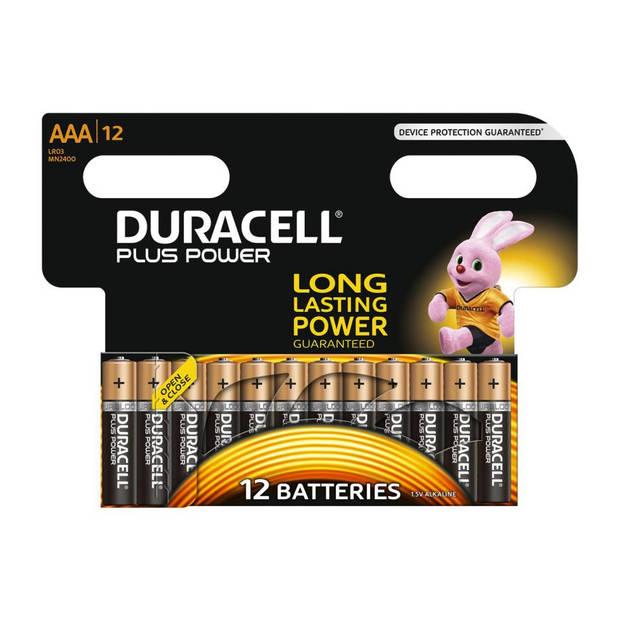 Duracell Plus Power AAA alkaline batterijen - 12 stuks