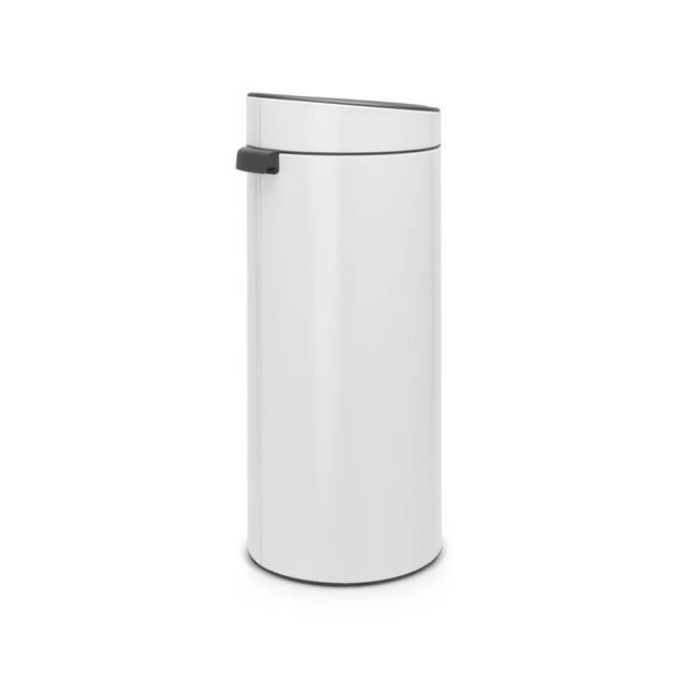 Brabantia Touch Bin afvalemmer 30 liter met kunststof binnenemmer - White