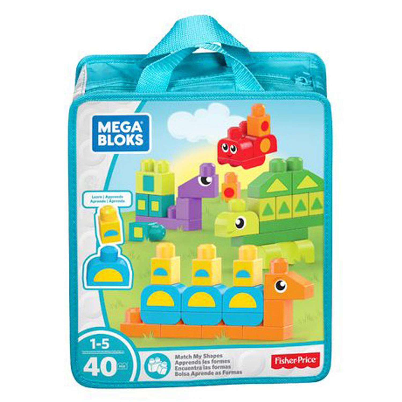 Fisher-Price Mega Bloks Learn my Shapes - 40 stukjes