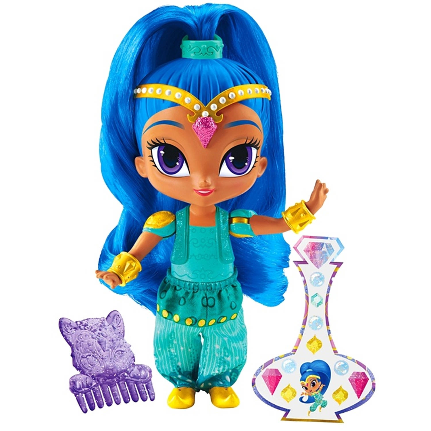 Fisher-Price Shimmer en Shine speelfiguur Shine 15 cm