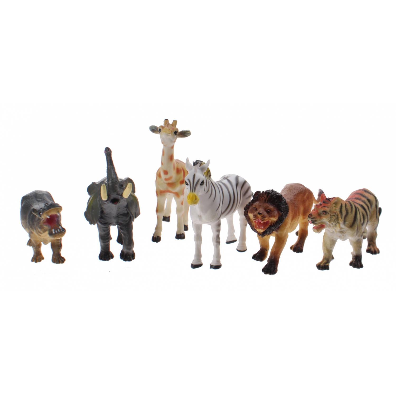 Johntoy Animal World speelset wilde dieren 6-delig
