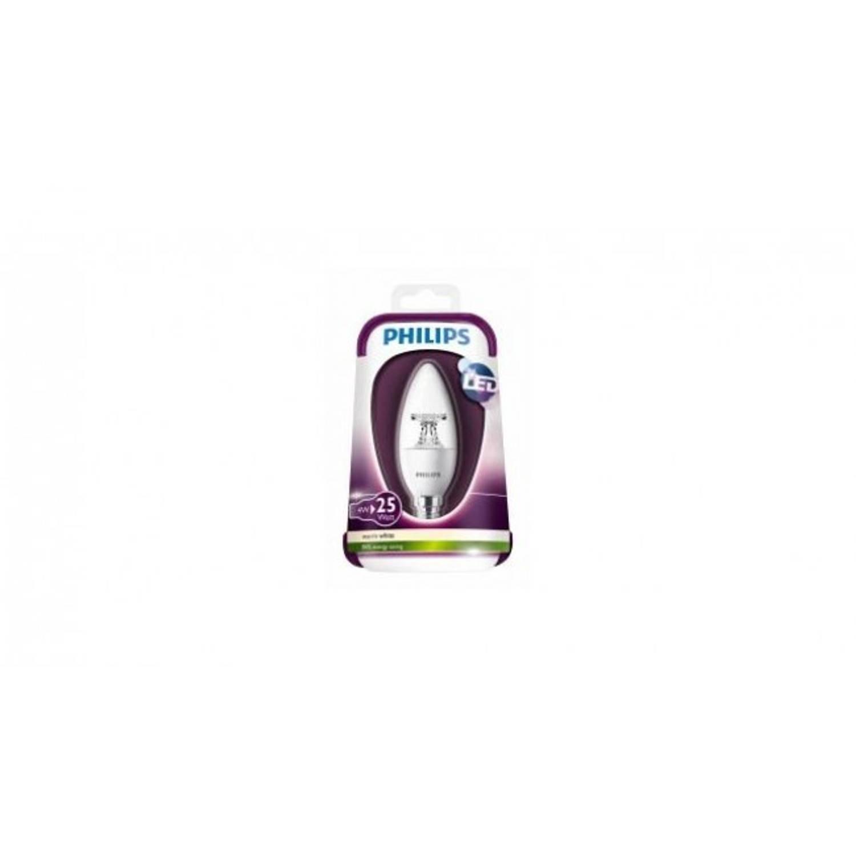 Philips Led kaarslamp 4W E14 25W warm wit helder