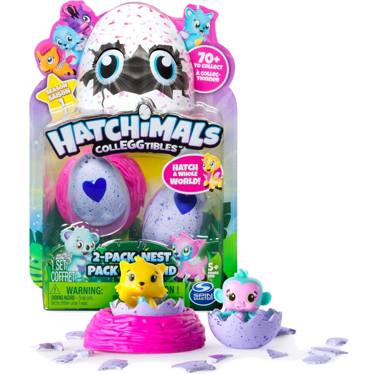 Hatchimals CollEGGtibles 2 Pack + nest