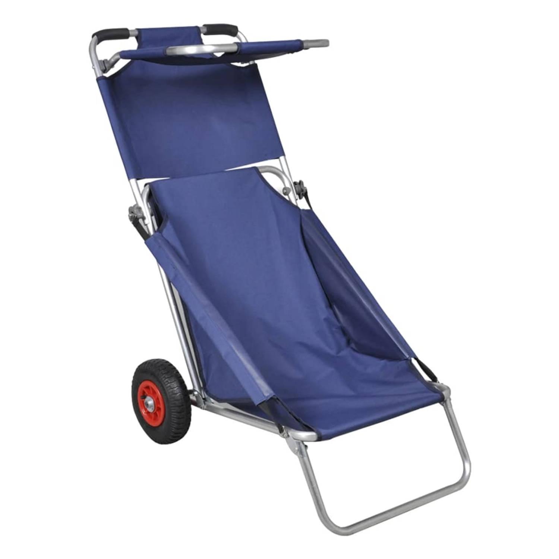 Draagbare 3 in 1 Strandstoel Met Zonnedak beach Trolley strandtafel