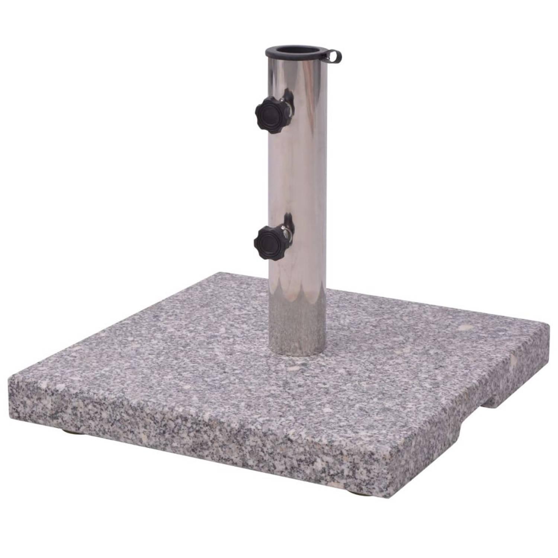 Parasolvoet Graniet 20 kg vierkant