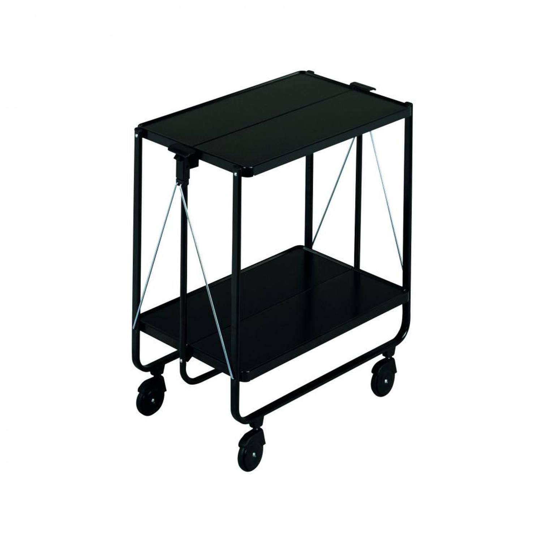 Leifheit Side Car keukentrolley - 60 x 40 x 72 cm - kunststof - zwart
