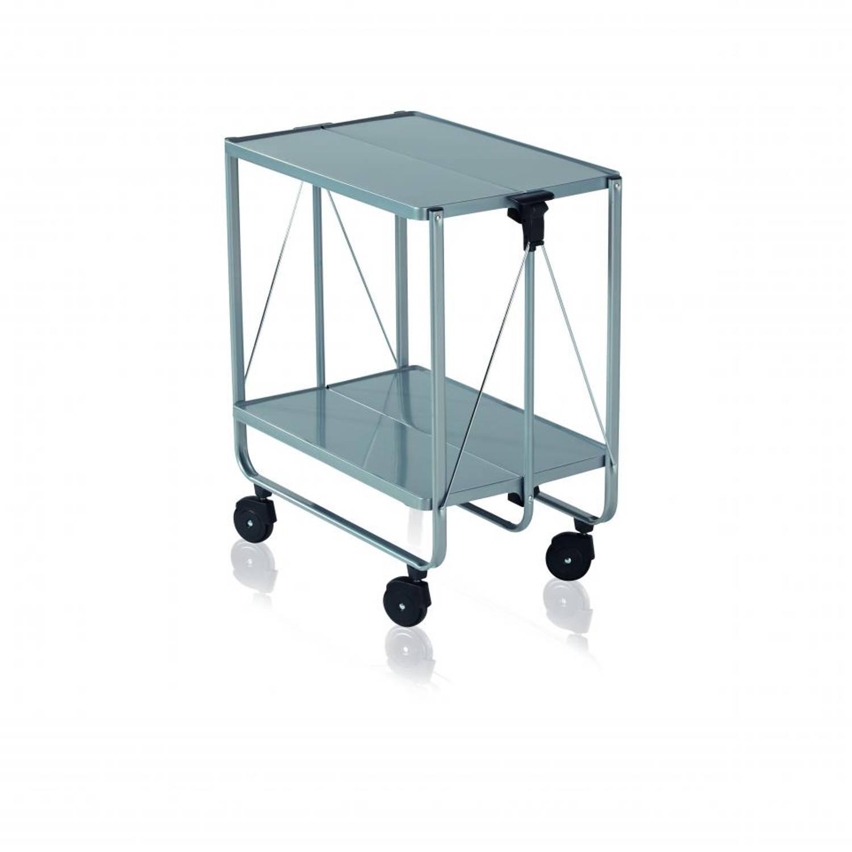 Leifheit Side Car keukentrolley - 60 x 40 x 72 cm - kunststof - zilverkleurig