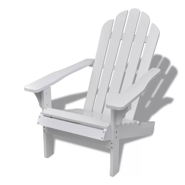 vidaXL Houten tuinstoel strandstoel wit